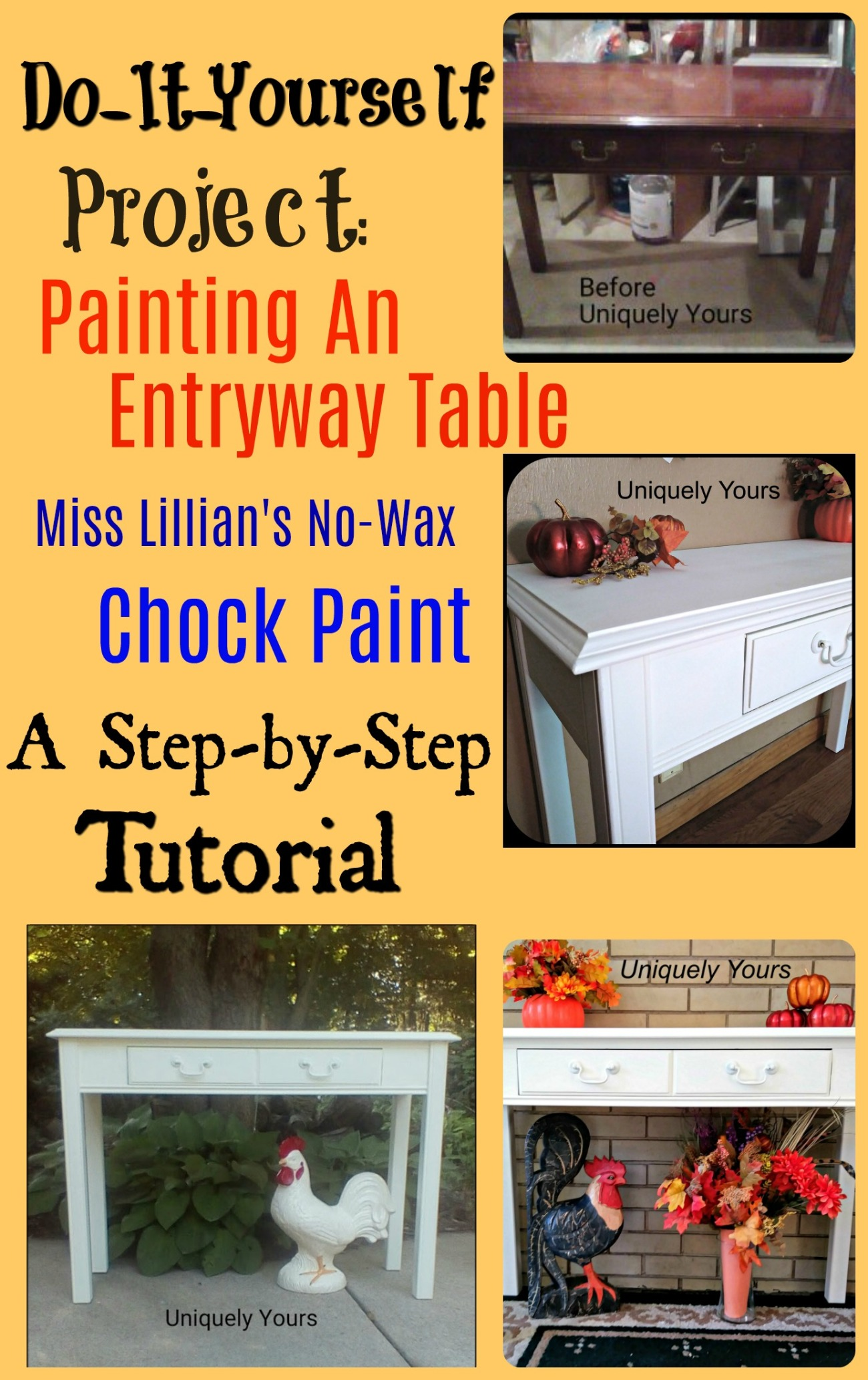 Do it yourself project how to paint an entryway table with miss entryway table solutioingenieria Choice Image
